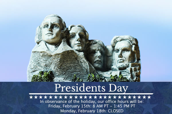 Presidents Day Hours 2019